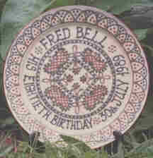 Fred Bell's plate